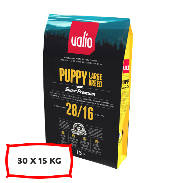 Valio Puppy Large Breed 30 X 15 kg