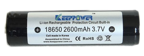 Li-ion akku 2600 mAh, Keeppower (Samsung)